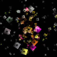 fantastic abstract square background design illustration