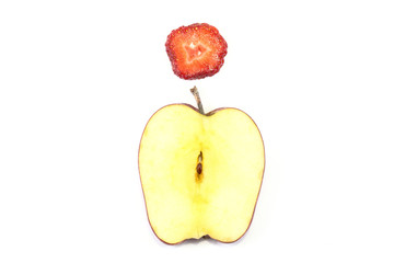 Red Apple strawberry Slice