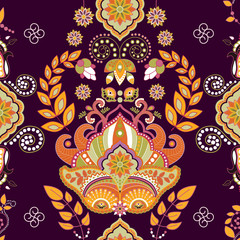 Colorful seamless pattern, floral wallpaper