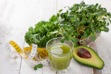 Fresh green juice for detox