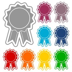 Award icon, Vector illustration icons set