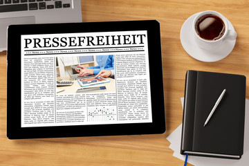 Zeitung als ePaper mit Pressefreiheit