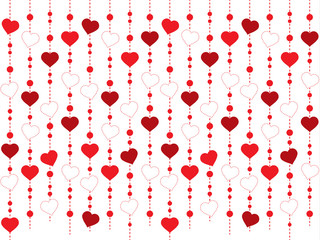 Seamless hearts pattern and Vector illustration for Valentine's day