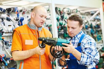 Hardwarer store worker or buyer