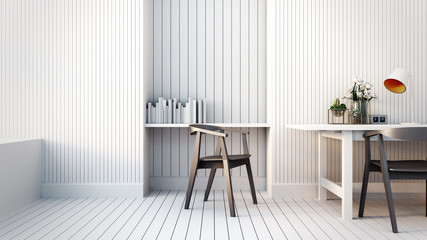 Modern & Loft Working room / 3D render image