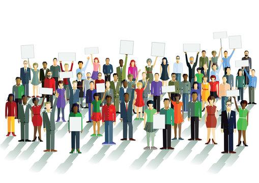 Demonstration und Meinung
