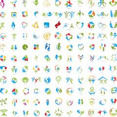 Menschen Logos, Große Sammlung, Personen