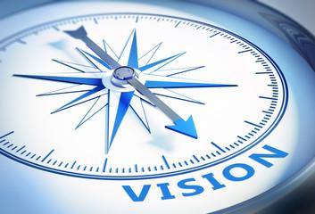 Weißer Kompass - Vision