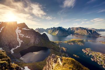 Norway Lofoten Reine from above