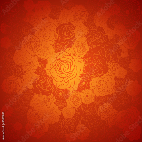 chinese new year background floral design vector illustration