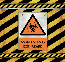 Sign caution blackboard warning biohazard vector