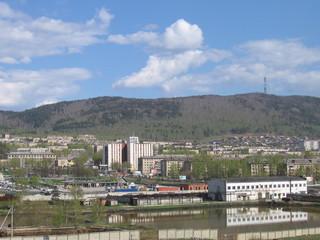 Вид на город Миасс, Урал