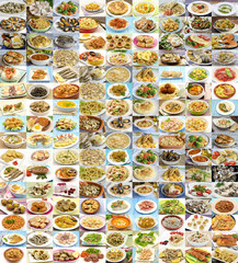 Huge variety of cooked dishes