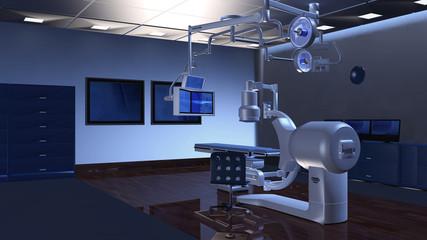 Moderner Operationssaal mit Ausrüstung für eine Hybrid-OP