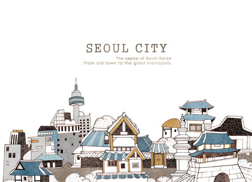 Seoul city and Korean architecture
