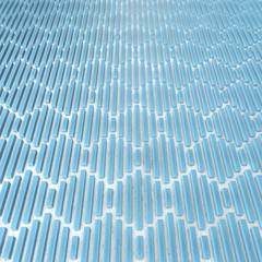Haihaut material macroshot - 3d rendering