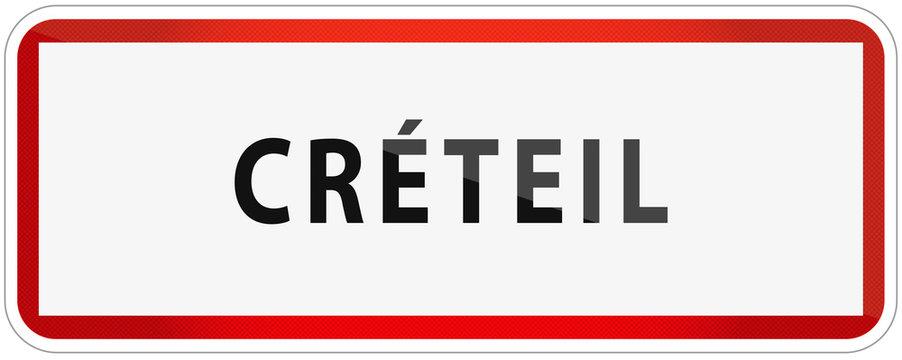 City of Creteil Traffic Sign in France Illustration