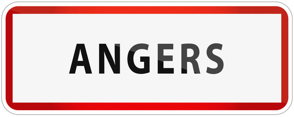 City of Angers Traffic Sign in France Illustration