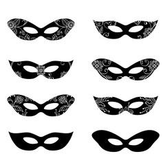 Masquerade mask silhouettes