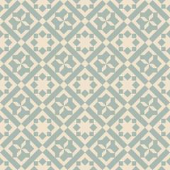 Elegant antique background image of square check cross pattern.