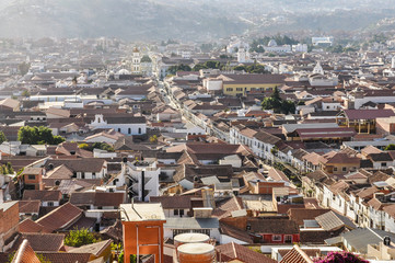 Aerial view of Sucre, Bolivia