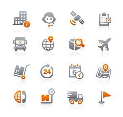 Shipping and Tracking Icons -- Graphite Series