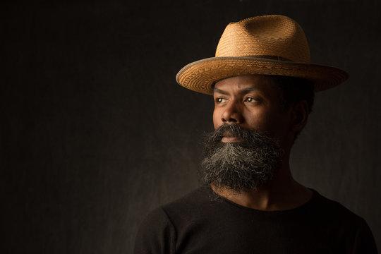 Black African American man portrait