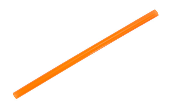 Jumbo orange smoothie milkshake straw