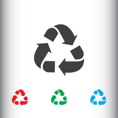 Recycle icon for web and mobile