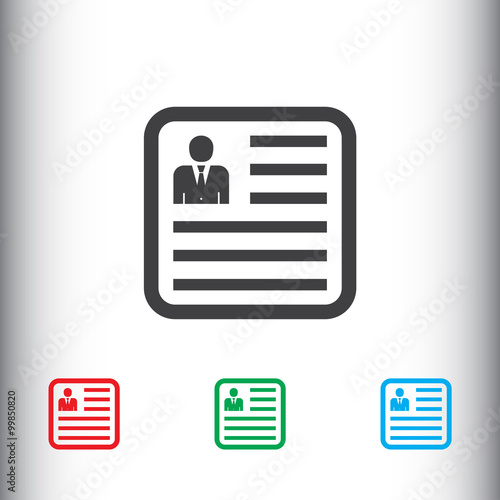 cv resume icon for web and mobile stock image and royalty free