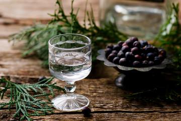 gin in a glass shot glass