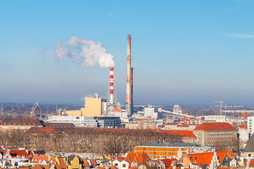 Wroclaw. Thermal power plant.