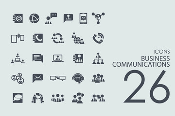 Set of business communications icons
