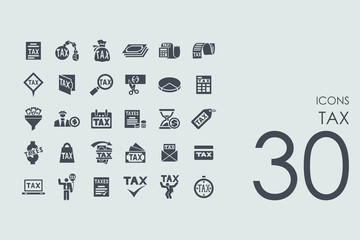 Set of tax icons