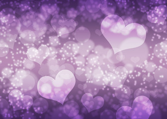 Hearts bokeh background / texture