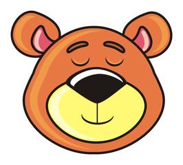 muzzle sleeping bear