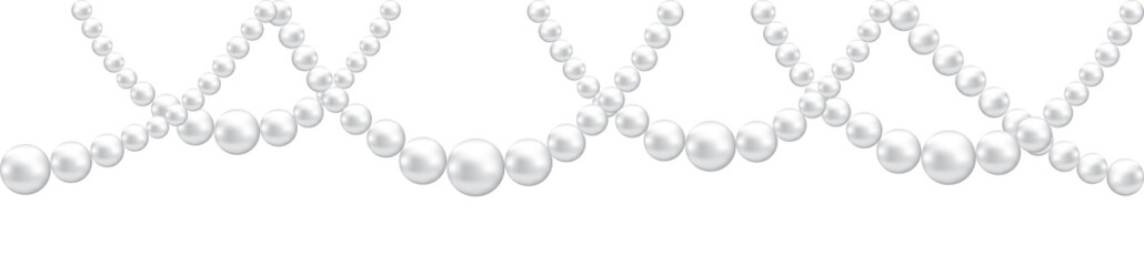 Pearl necklace isolated