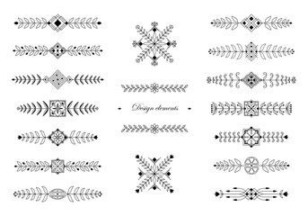 Floral ornamental design elements