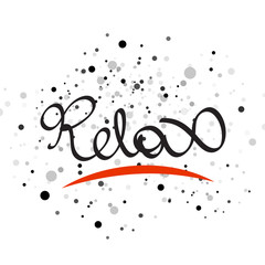 Relax lettering word