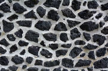 Mason stone wall