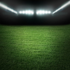 Sport stadium in light of spotlights