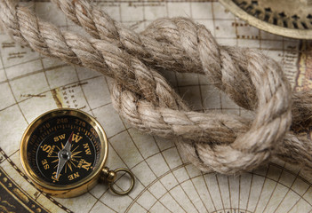 Compass and marine knot