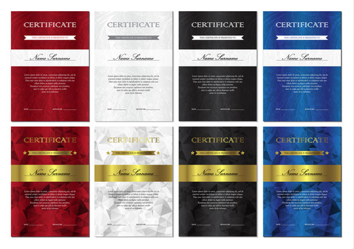 Certificate and diploma templates set