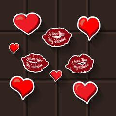 love lips heart sticker