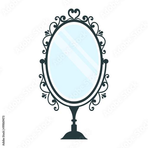 vintage mirror clipart. vintage mirror dark clipart