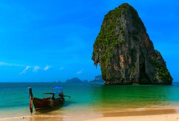 Foto op Canvas Blauwe hemel Traveling to Thailand tourist landscape background