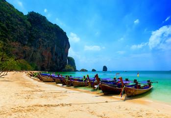 Railey beach landscape in Krabi, Thailand
