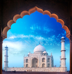 Tajmahal islam monument and arch in India Agra