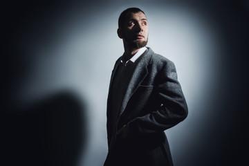 Portrait of gorgeous caucasian attractive sexy man