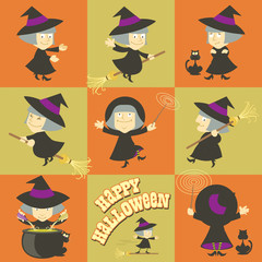 Little Halloween Witches